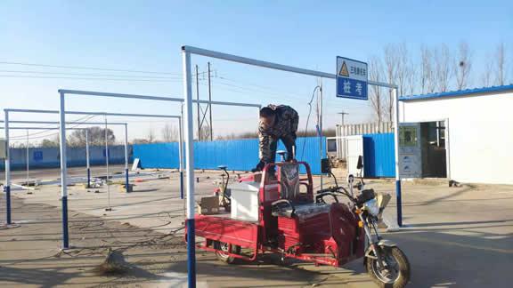 高阳县兴阳驾校摩托车考场建设中