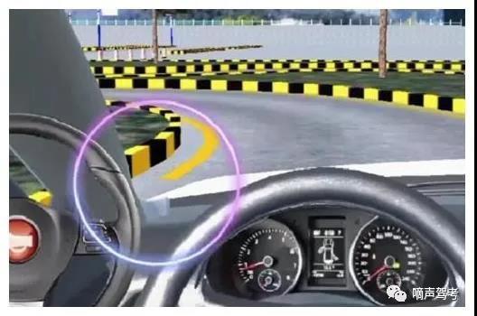 科目二模拟考试设备中的曲线行驶S弯操作步骤和技巧!